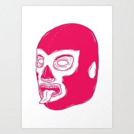 Pink Luchador Art Print