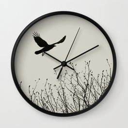 Aloft - Graphic Birds Series, Plain - Modern Home Decor Wall Clock