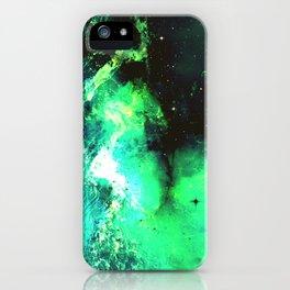 Green Nebula iPhone Case
