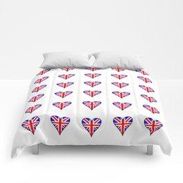 Flag of UK 6- London,united kingdom,england,english,british,great britain,Glasgow,scotland,wales Comforters