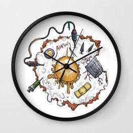 Special Fried Eggs Wall Clock