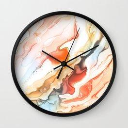 Alcohol ink marble splash Wall Clock