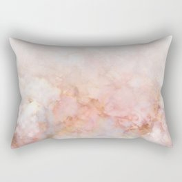 Beautiful Pink and Gold Ombre marble under snow Rectangular Pillow