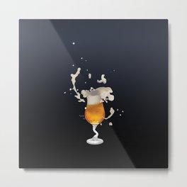 Belgian Beer 4: Splash Metal Print
