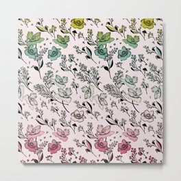 Summer Floral Metal Print
