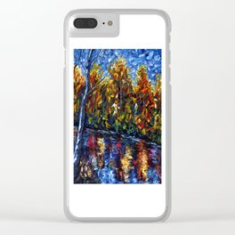 The River Song (Palette Knife Clear iPhone Case