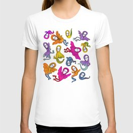 colorful flying witches T-shirt