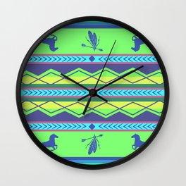 American Native Pattern No. 104 Wall Clock