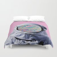 astronaut Duvet Covers featuring Astronaut by G-Fab