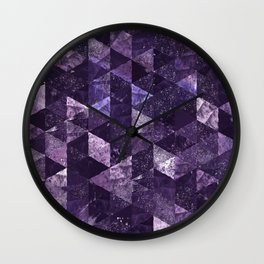 Abstract Geometric Background #27 Wall Clock