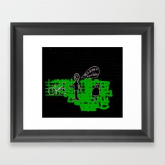 terrible bike Framed Art Print