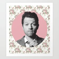 castiel Art Prints featuring CASTIEL by Hands in the Sky