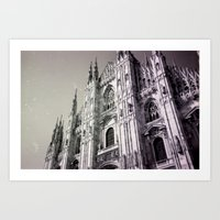 milan Art Prints featuring Milan by very giorgious