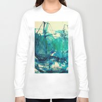 ship Long Sleeve T-shirts featuring Ship by Hilary Dow