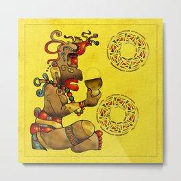 Tribal Fertility God Folk Art Metal Print