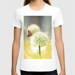 Allium fantasy flowers with butterfly T-shirt
