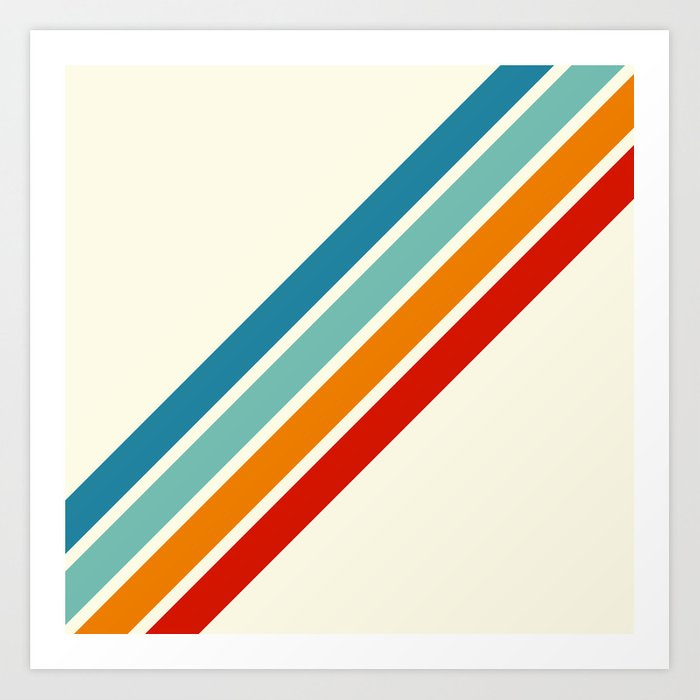 Alator - Classic 70s Retro Summer Stripes Kunstdrucke