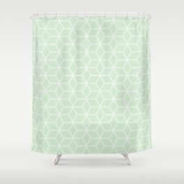 Hive Mind Light Green #395 Shower Curtain