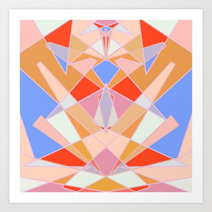Flat Geometric no.35 Shapes and Layers Art Print