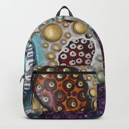 Bejeweled - From my Sculpture with  Drawing - Googly Eyes Backpack