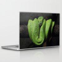 monty python Laptop & iPad Skins featuring Emerald Python by C Beth Holtzman