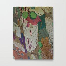 Bird on textures and patterns Metal Print