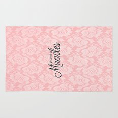 I believe in Miracles Pink Lace  Rug