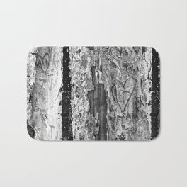 Carvings in Tree Trunk Gnarly Texture Pattern Bath Mat