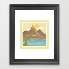 All Things New - yellow (version 2) Framed Art Print