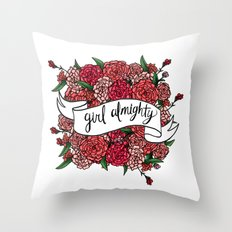 girl almighty Throw Pillow