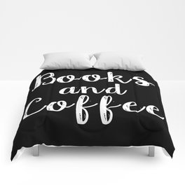 Books and Coffee - Inverted Comforters
