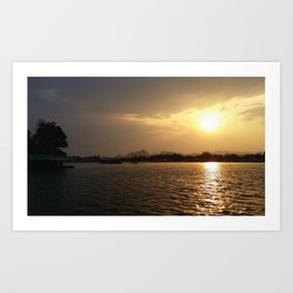 Sunset On The River Kwai Art Print