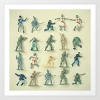 army Art Prints featuring Broken Army by Cassia Beck