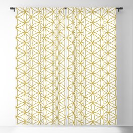Flower of Life Pattern – Gold & White Blackout Curtain