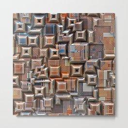 3D Digital Circuitry Metal Print