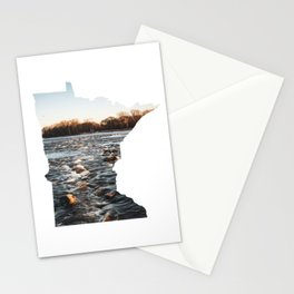 Mississippi River in Minnesota-Long Exposure Landscape Photography Stationery Cards