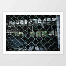 Building 9, chained Art Print