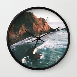 Oregon Coast V Wall Clock