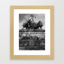 Gefion Brunnen Framed Art Print