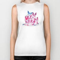sylveon Biker Tanks featuring Sylveon Pile by Black Howl
