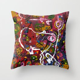 """""""eruption and rebirth"""" Throw Pillow"""