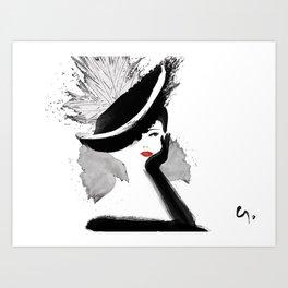 Glamorous Hat Art Print