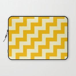 Cream Yellow and Amber Orange Steps RTL Laptop Sleeve