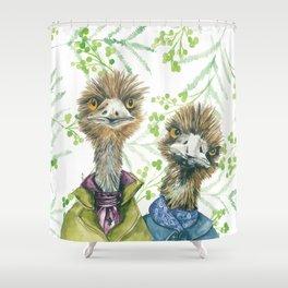 Edgar and Erwin Emu Shower Curtain