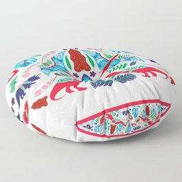Jurassic Folk Floor Pillow