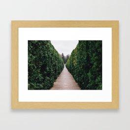 French Garden Framed Art Print