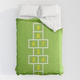 Hopscotch Green Comforters