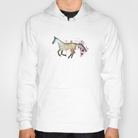 horse Hoodies featuring Horse by Brontosaurus