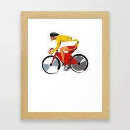Solo Track Cyclist Framed Art Print