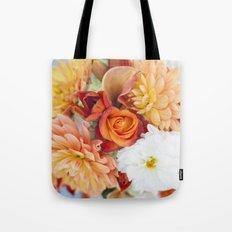 orange, yellow and white flowers Tote Bag